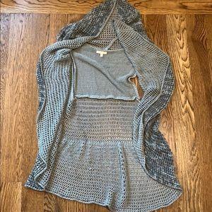 Adorable gray camo circle vest